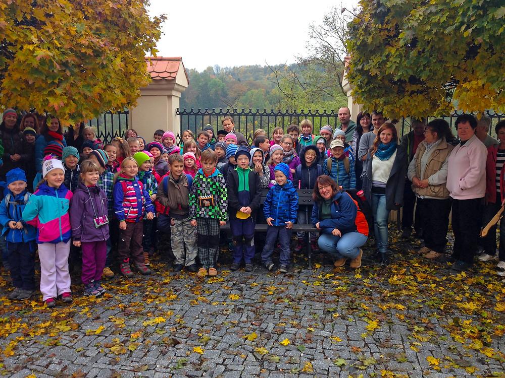 Děti, archeologové a podzim. Vzdělávací sezóna pod Stradonicemi je za námi. Foto D. Stolz