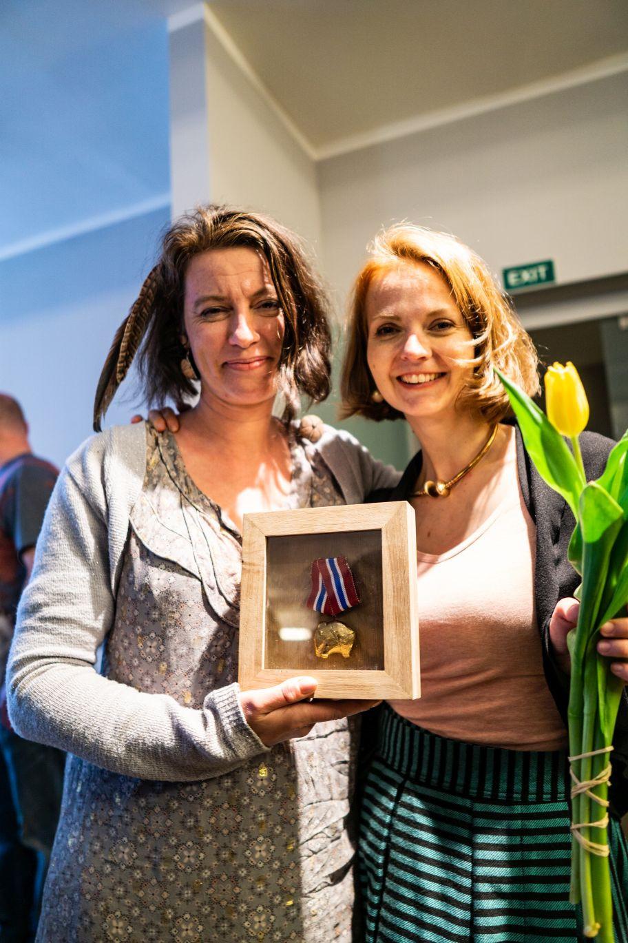 Autorky konceptu a organizátorky Kupecké osady Krumbenowe Lucie Šmahelová a Veronika Puhačová. Foto J. Horák