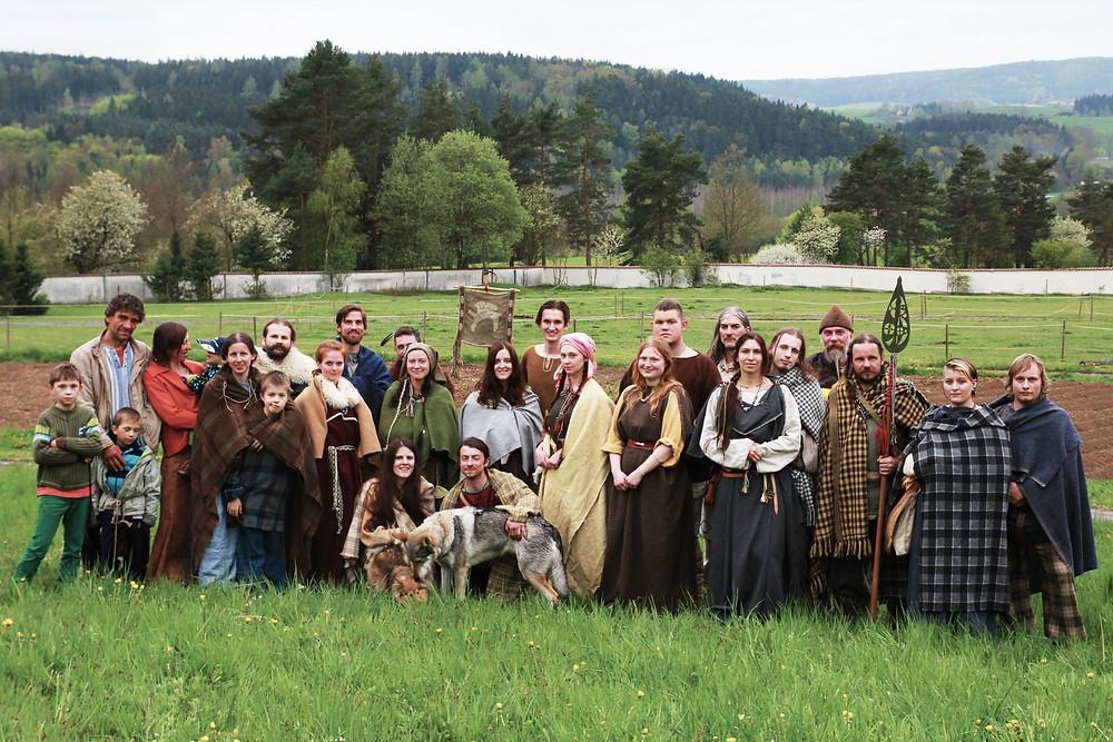 Účastníci Beltinu na Semenci. Foto J. Lohnická