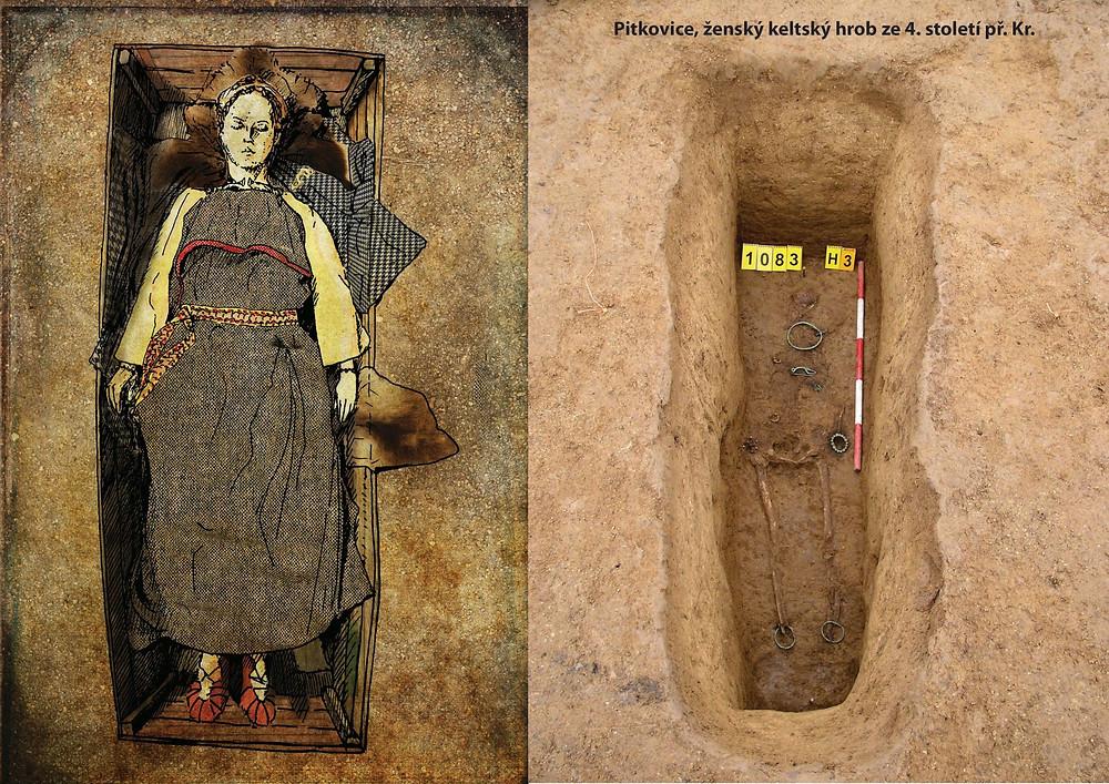 Možná podoba keltské ženy podle nálezu z Pitkovic. Zdroj archiv ÚAPPSČ