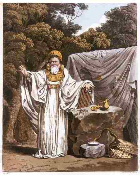 Romantická představa druida z 19. století. Zdroj viz Historyweb.sk