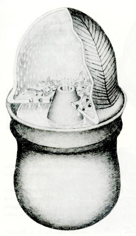 Rekonstrukce eneolitické destilační nádoby. Zdroj Ryšánek - Václavů 1990