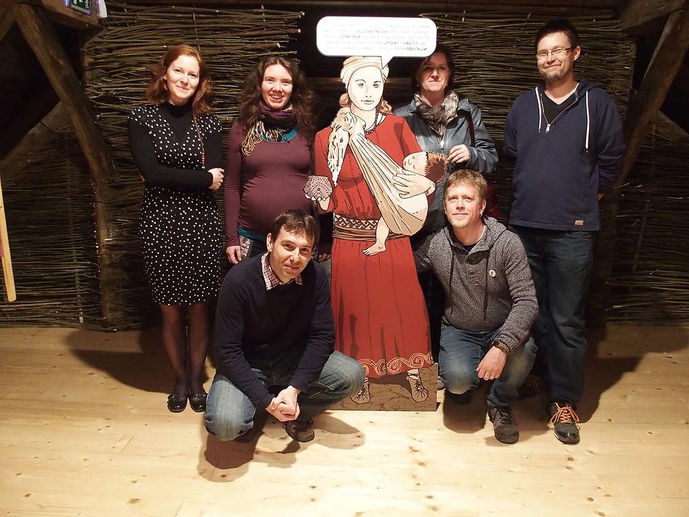 Část autorského týmu výstavy Jmenuji se Sajetta. Foto V. Mikešová