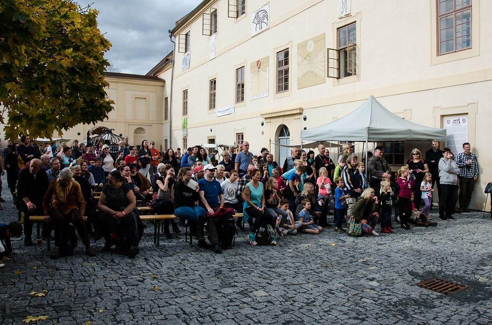 Oslava keltského svátku Samhain 2019 na zámku Nižbor. Foto: Lucie Velechovská.