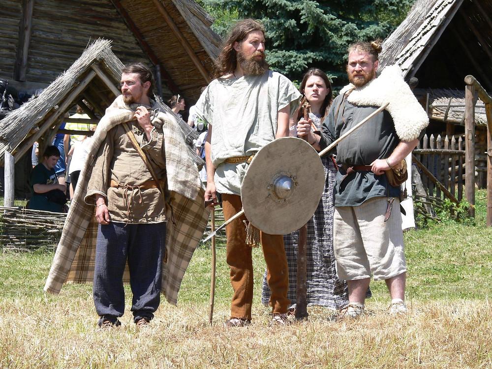 Udatní germánští válečníci. Foto J. Lohnická