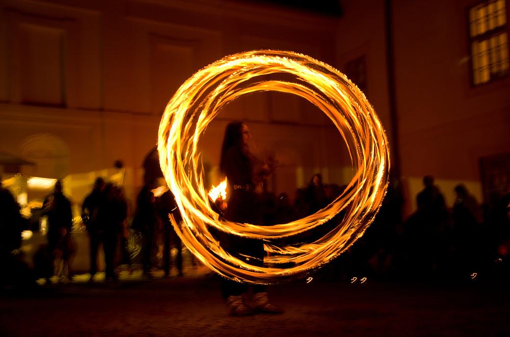 Samhainové oslavy na zámku Nižbor.