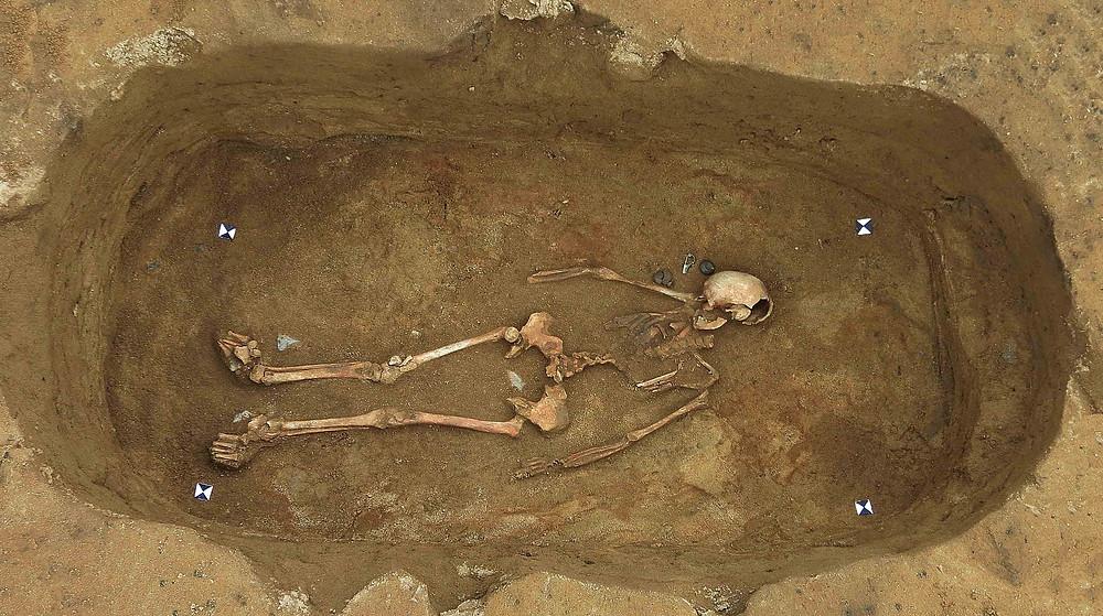 Perfektně zachovalý hrob germánské ženy. Foto archiv ÚAPPSČ