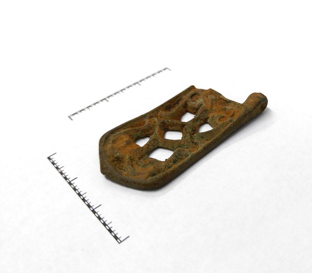 Kování opasku z 8. st. Foto archiv ÚAPPSČ