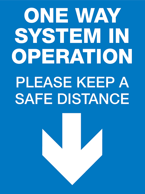 One-Way System Signage, Hanging - Pack of 1