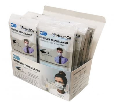 Triple Layer Disposable Mask, box of 50, great for resale