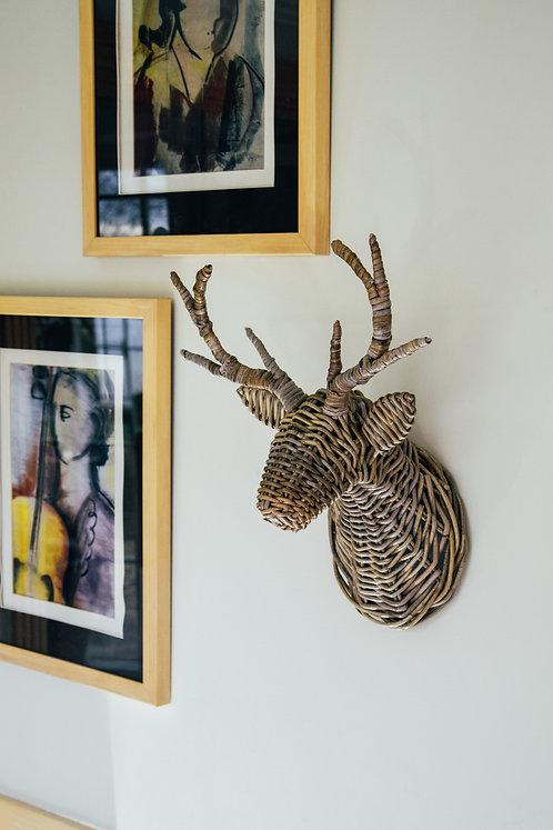 Deer Head Wicker