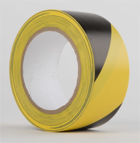 Waterproof Hazard Tape Black/Yellow - Pack of 6