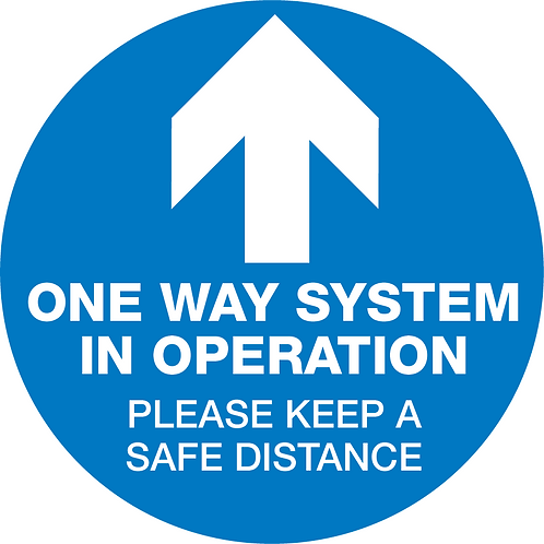 One-Way System Signage, Floor - Pack of 10