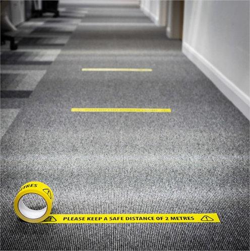 Social Distancing Floor Marking Tape - Pack of 6