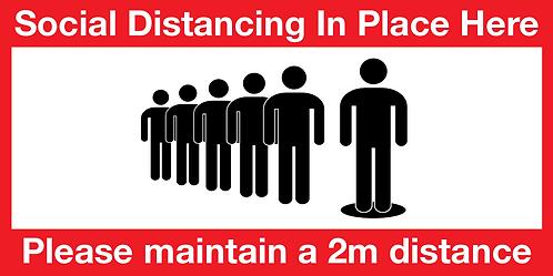 Entrance Social Distancing Floor Sticker - Pack of 1