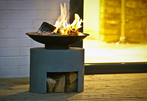 Firebowl & Oval Console