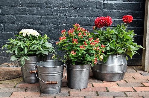 Outdoor Galvanised Rivet Planter