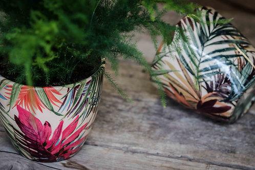2 Monza Tropical Fuchsia Planters