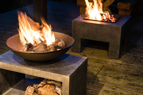 Firebowl & Rectangle Console