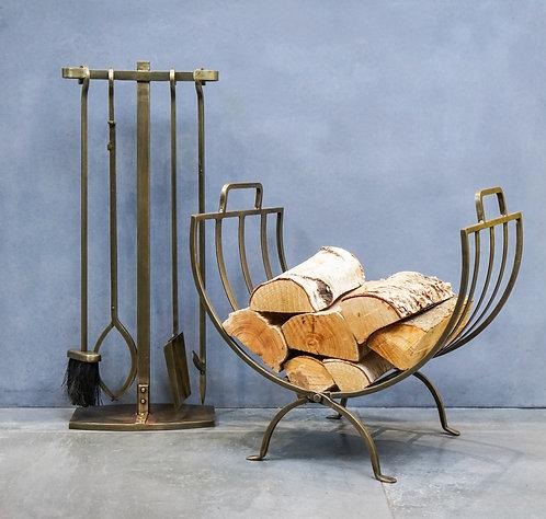 Linear Log Basket, 2 Colours