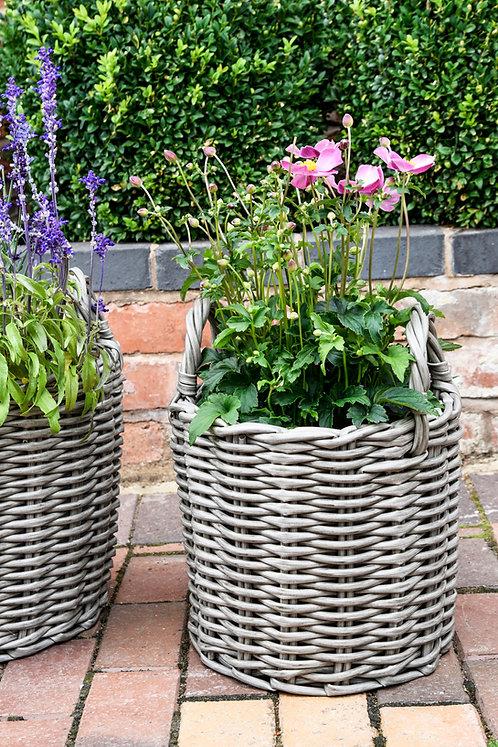 Set of 2 Polyrattan Planters