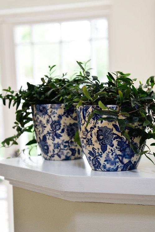 2 Monza Vintage Blue Planters