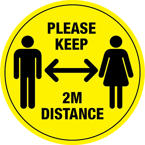 In-Store Social Distancing Floor Stickers - Pack of 10