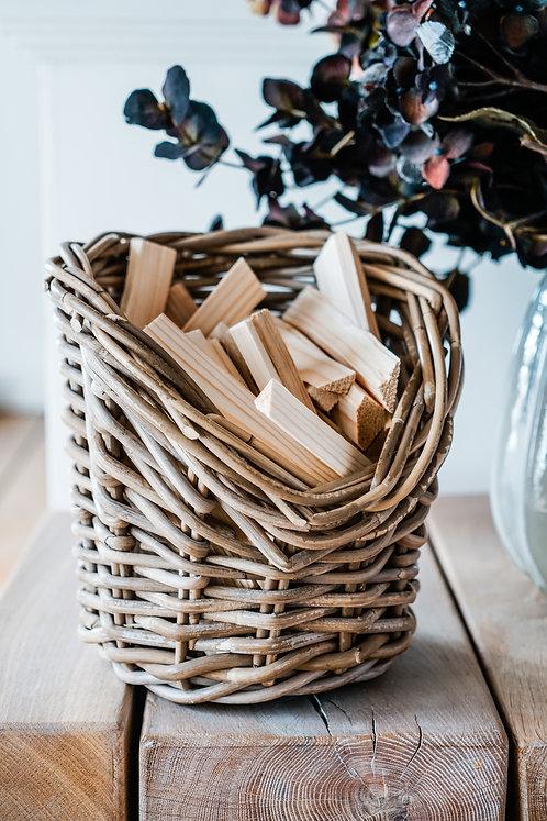 Wicker Kindling Basket