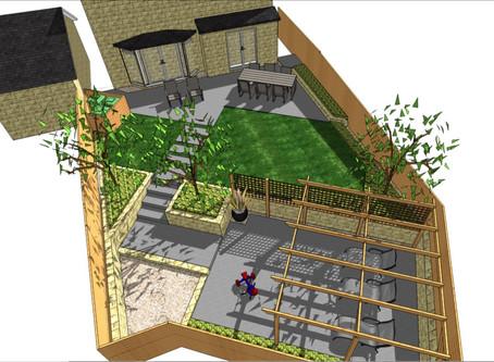 Garden design in Wakfield