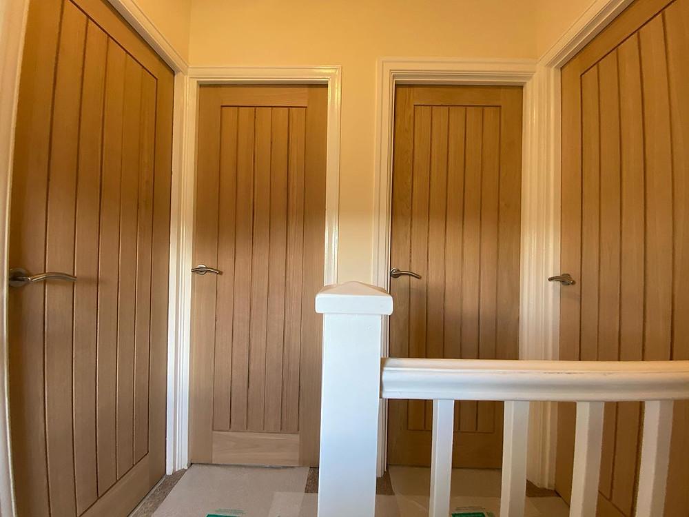 Oak veneer doors-Shire joinery