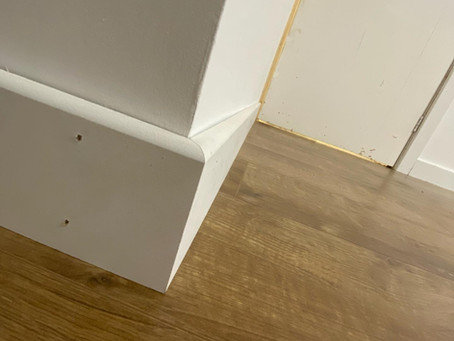 Laminate floor, Skirting and architrave finished off in Pudsey leaving behind some very happy custom