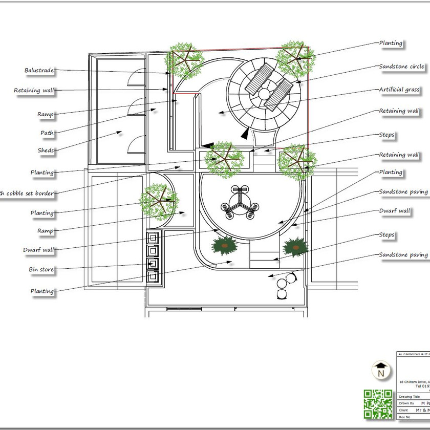 2, Black and white concept plan-1 for a property in Sherburn In-Elmet