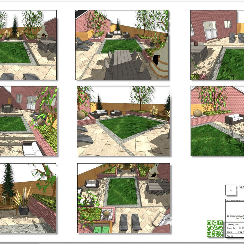 Concept plan-1 for a new build property in Pontefract, West Yorkshire.
