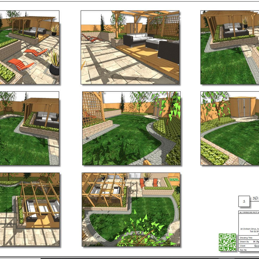 3, Colour 3D images, concept plan-1 for a property in Wakefield