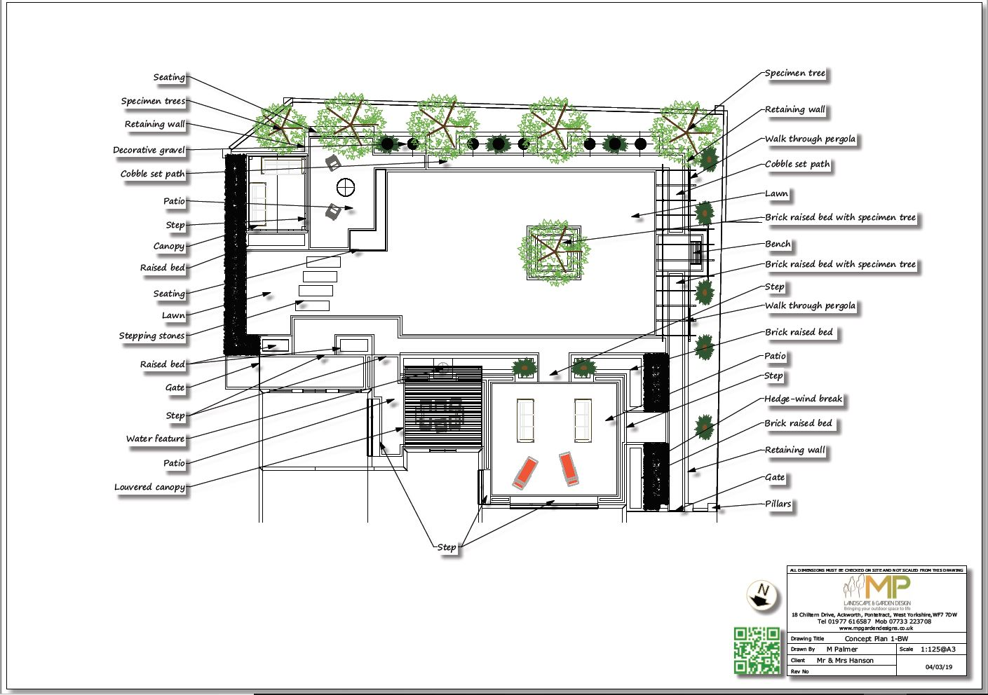 Concept plan-1 for a property in Wakefield, West Yorkshire.