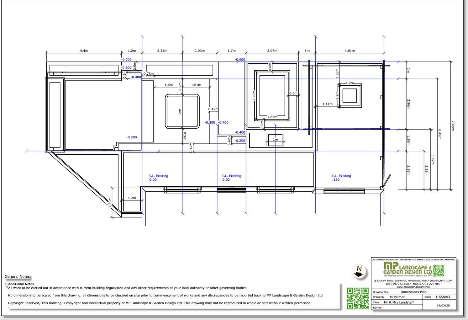 5, Dimensions plan for a property in Wakefield