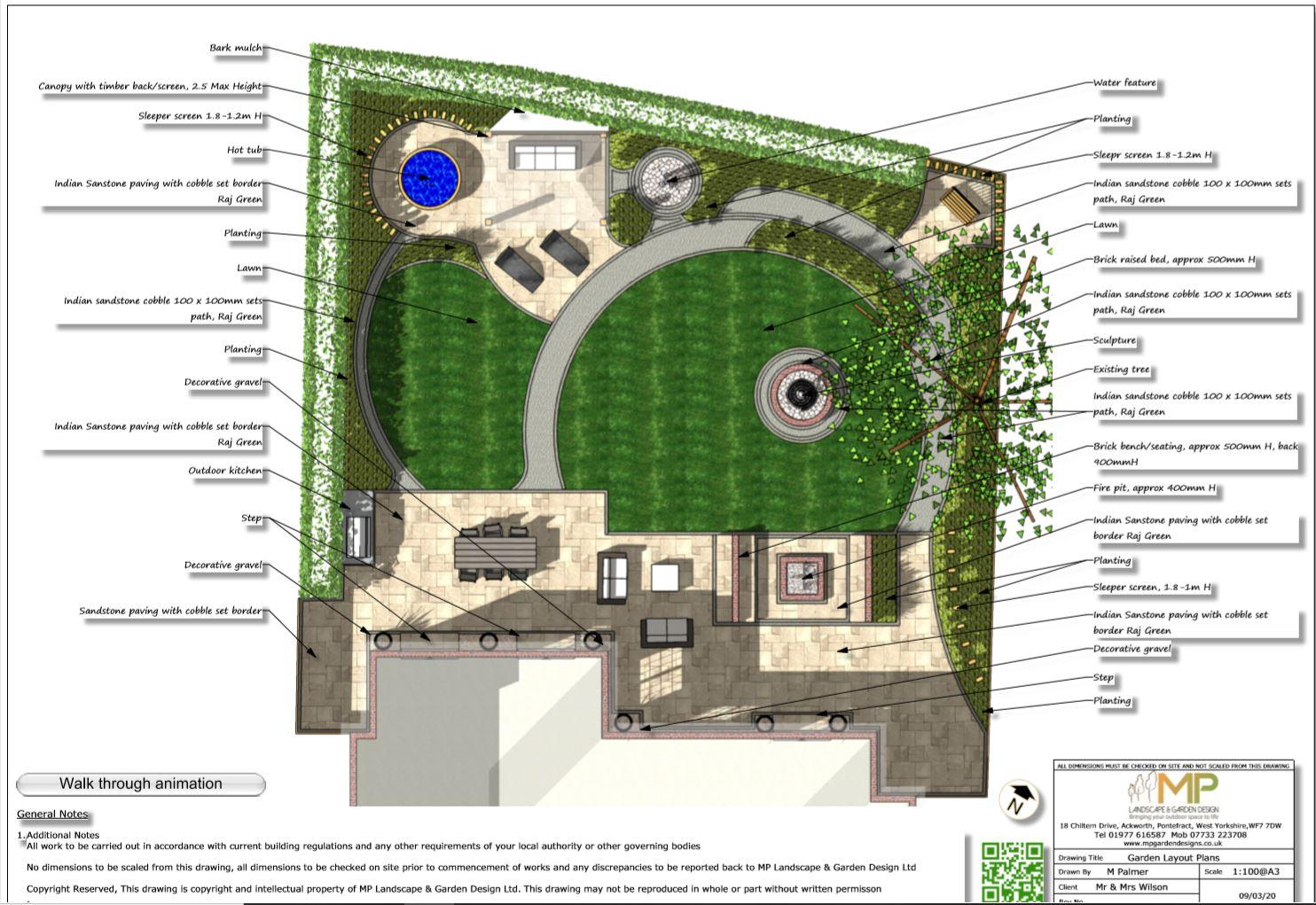 1.Garden layout plan, Wakefield.