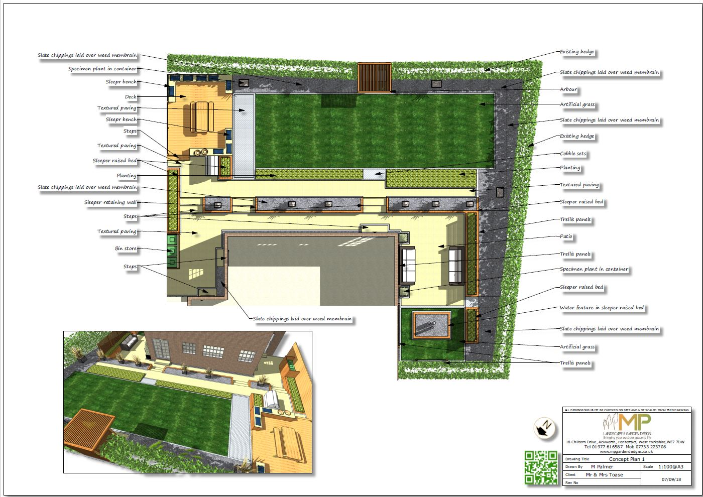 Concept plan-1 for a property in Wakefield.