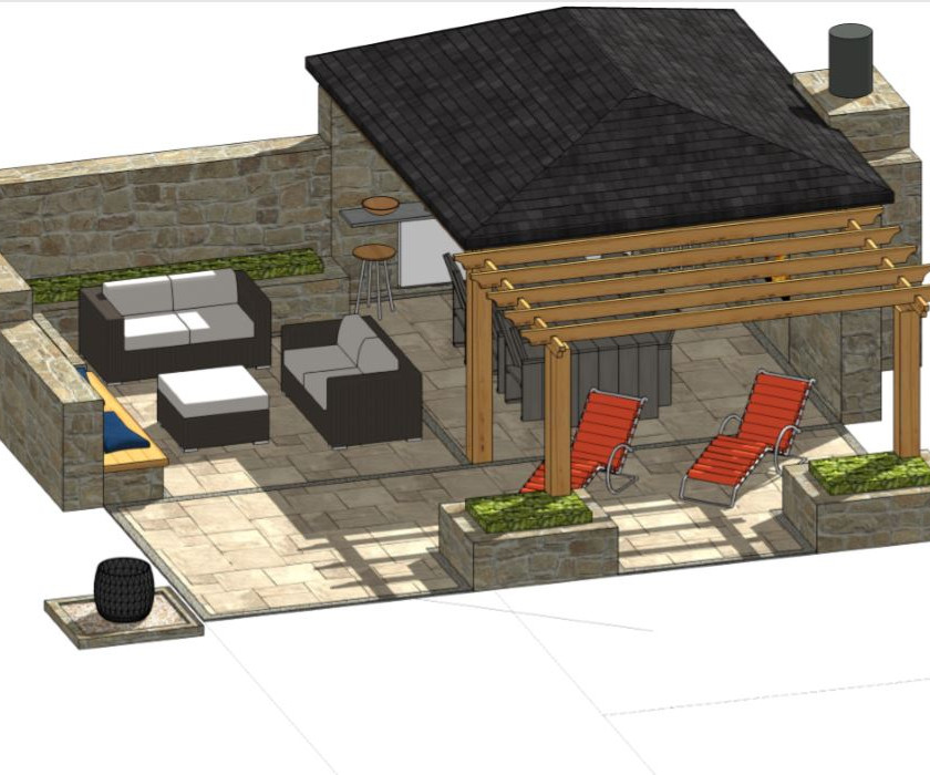 1, Patio design-1 for property in Barnsley