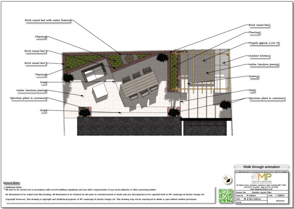 2, Colour garden layout plan,