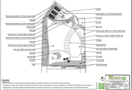 3, Garden design, layout plan, Wakefield