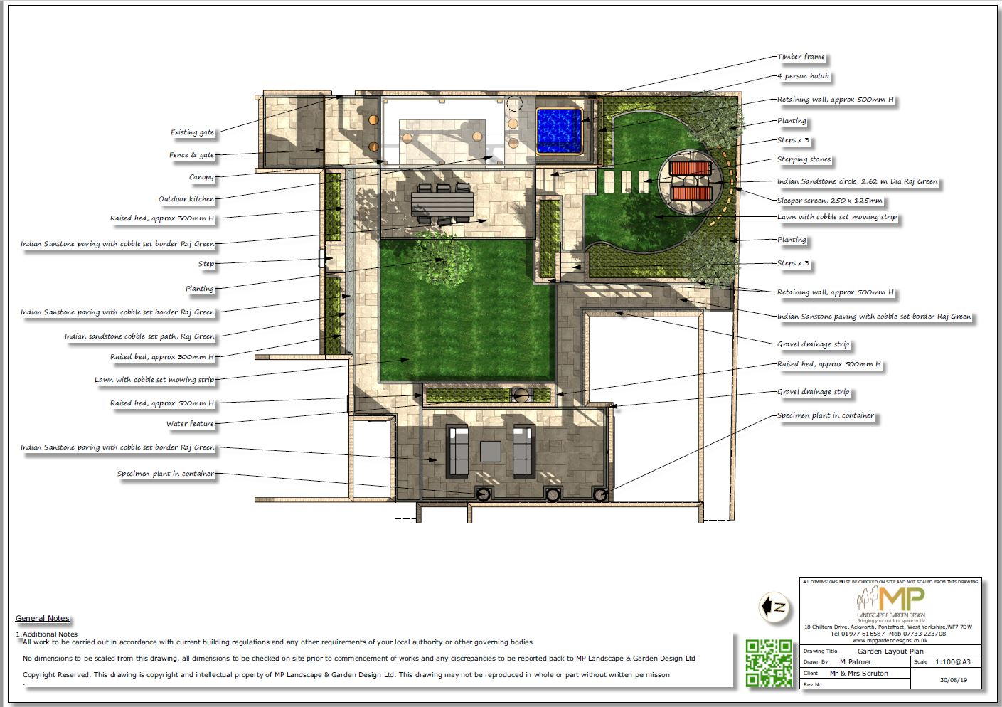 1. Garden layout plan for a property in Pollington