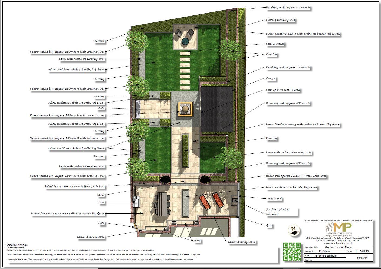 1 Garden layout plan, Wakefield