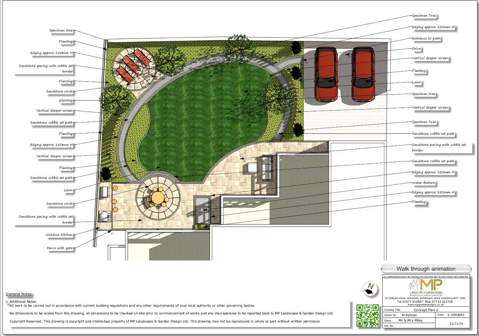 4, Landscape designer Wakefield, Concept plan-2