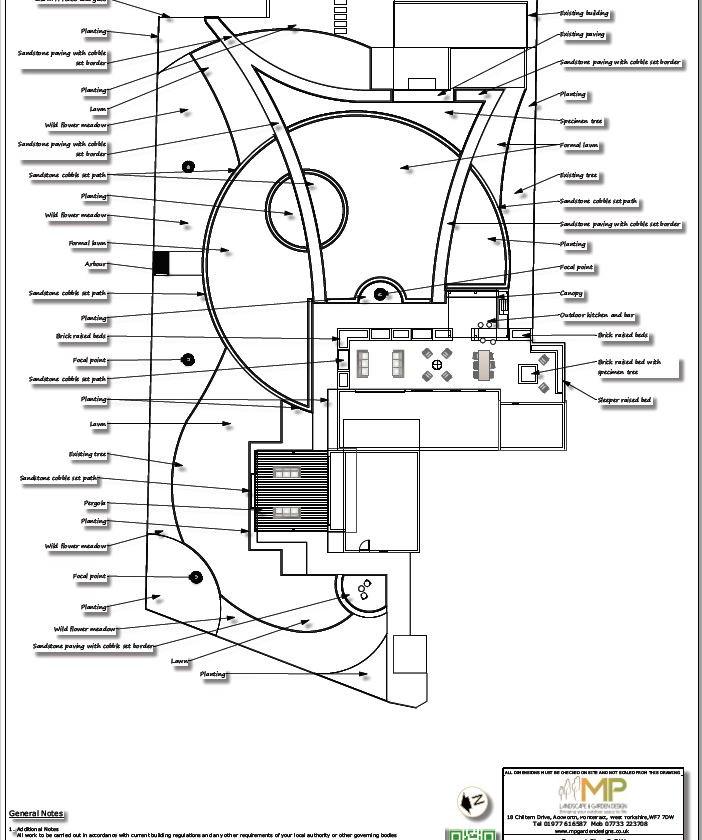 4, Landscape design black and white concept plan-2, Castleford.