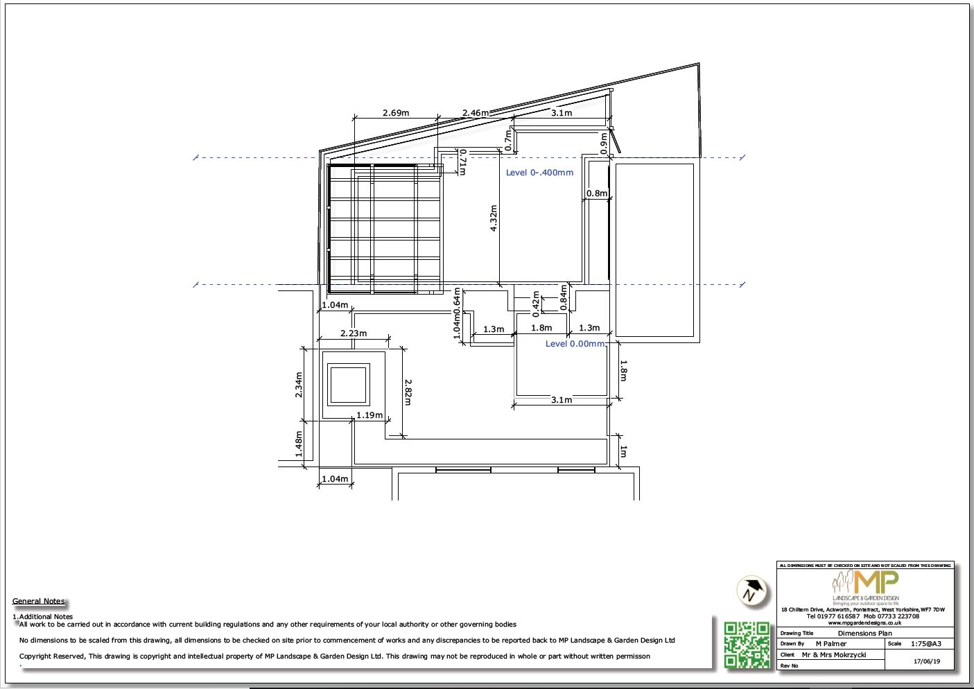 4, Dimensions plan for a property in Normanton, West Yorkshire.