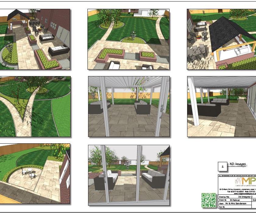 6, Landscape design colour 3D images concept plan-2, Castleford.
