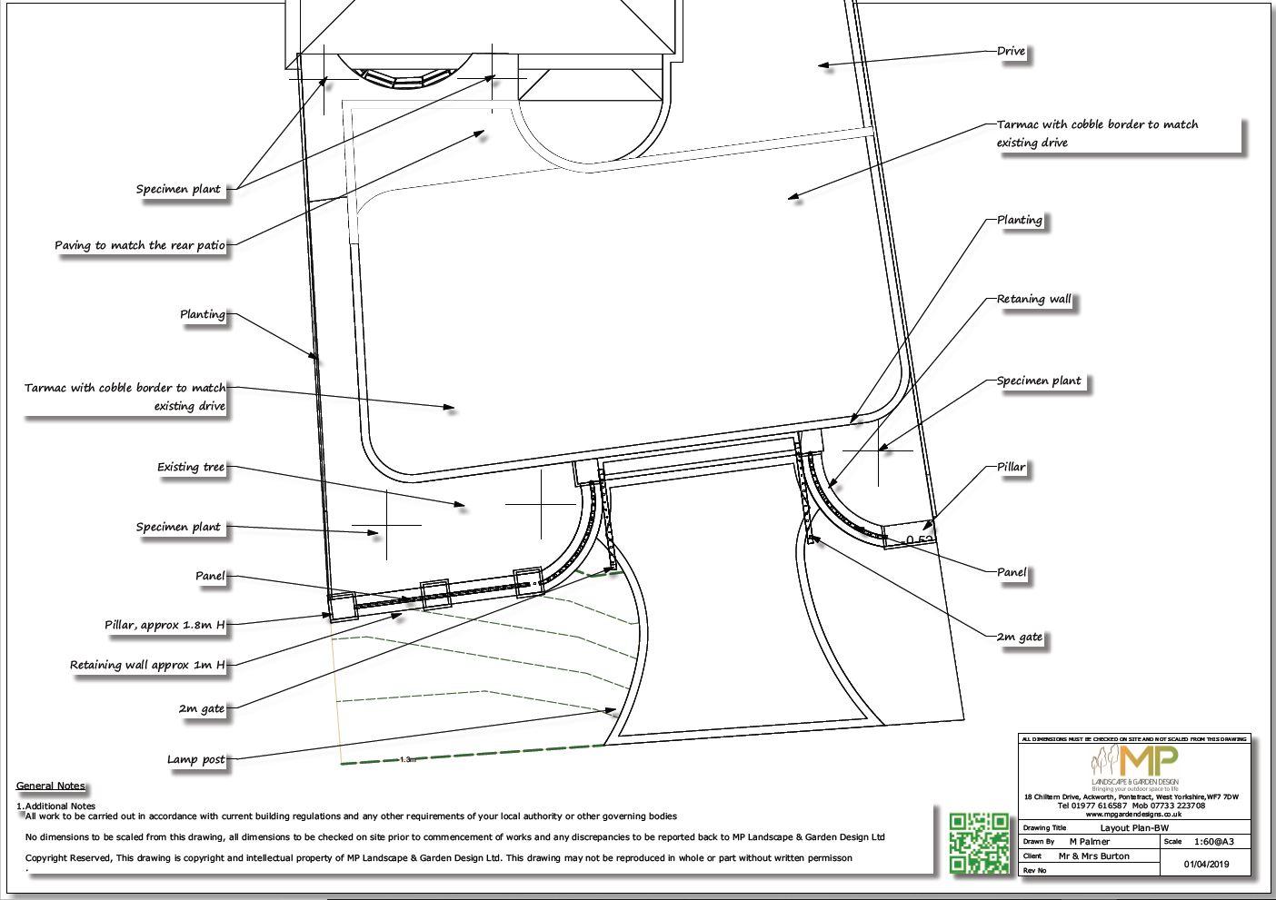 Black and white arden design plans, Ackworth.