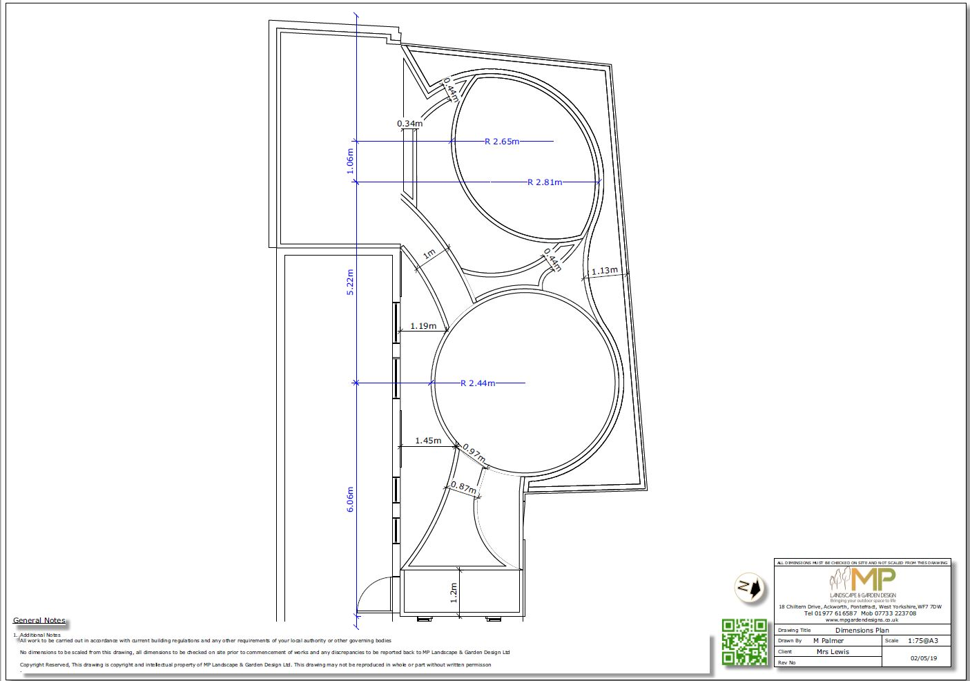 4, Garden layout plans-Dimension, Castleford.