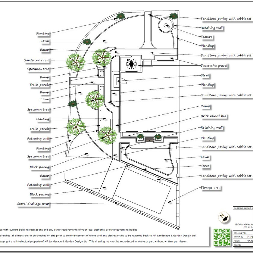5, Concept plan, black & white-2 for a property in Featherstone.